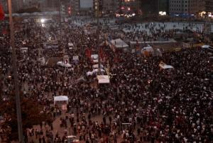A Taksim tér (Forrás: Hürriyet)
